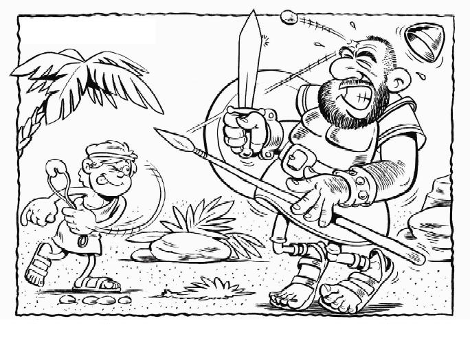 David Y Goliat Para Colorear Dibujos Cristianos Para: David Y Goliat Para Colorear Dibujos Cristianos Para