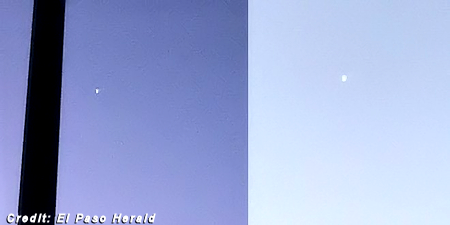 UFO Photographed Over El Paso Mystifies Residents 12-16-19