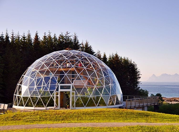 14-Hjertefølgers-Architecture with a Cob House built in a Geodesic Dome in the Arctic Circle