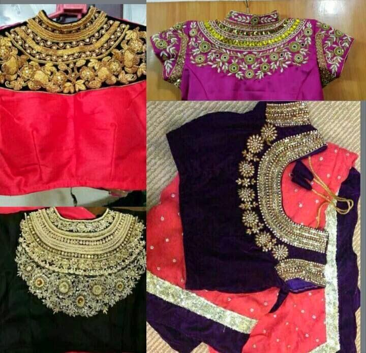 d4b980f35d240 Heavy work blouse and maharani blouse