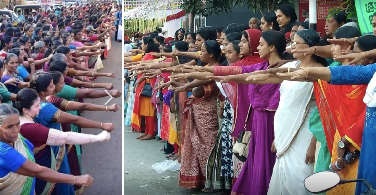 5,000,000 Indian Women Have Made A 385-Mile Human Chain For Gender Equality