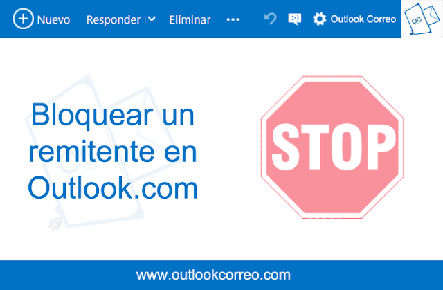 Bloquear un remitente en Outlook.com
