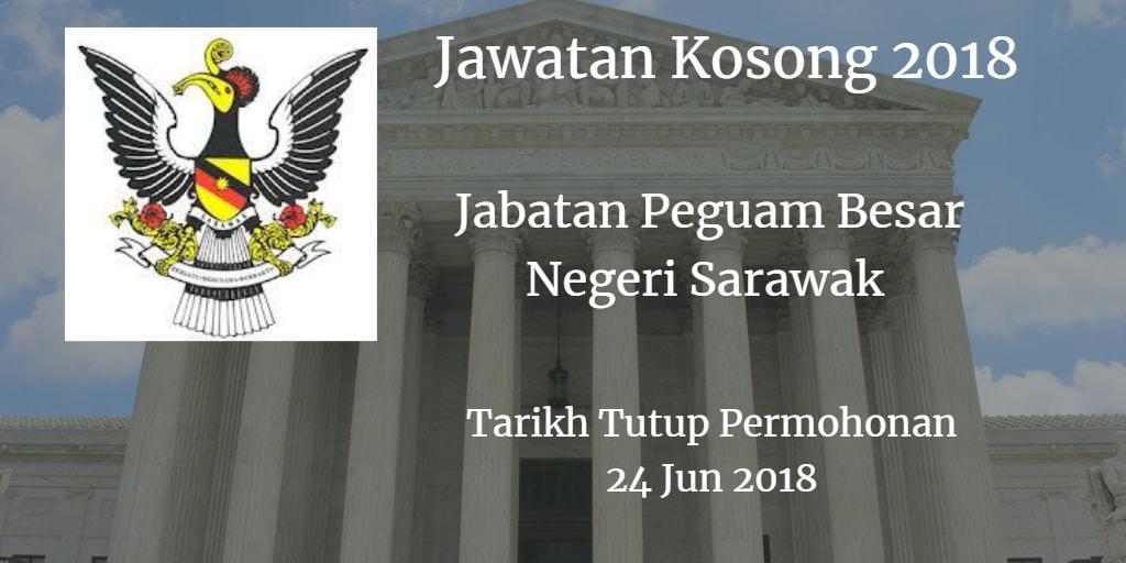 Jawatan Kosong Jabatan Peguam Besar Negeri Sarawak 24 Jun 2018