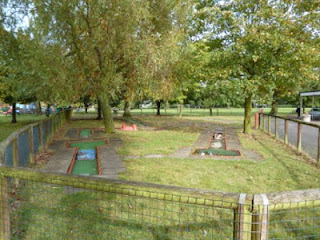 Crazy Golf in Mill Hill Park, Daws Lane, London