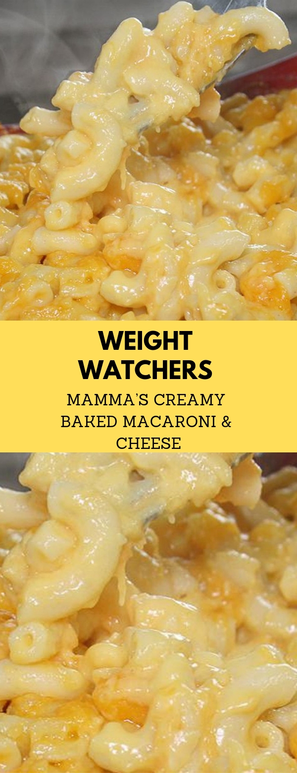 Weight Watchers Mamma's Creamy Baked Macaroni & Cheese #WEIGHTWATCHERS #MACARONI #CHEEESE