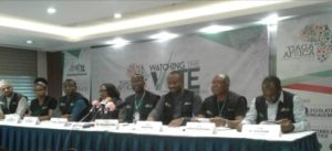 YIAGA AFRICA executive members briefing the press