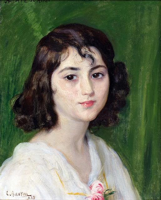 Retrato de chica, Laureano Barrau Buñol, Pintor Catalán, Pintor español, Cuadros de Laureano Barrau Buñol, Barrau Buñol, Laureano Barrau
