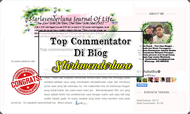Top Commentator Di Blog Starlavenderluna