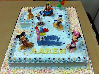 Baby Aaren 1st Birthday cake