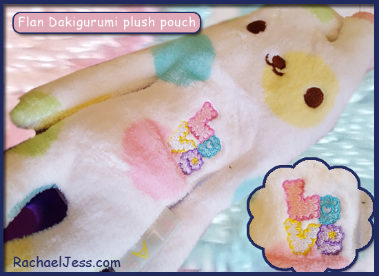 Flan Dakigurumi plush pouch in the October Kawaii Box