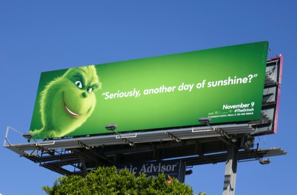 another day of sunshine Grinch billboard