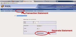 How to generate cra nsdl Statement