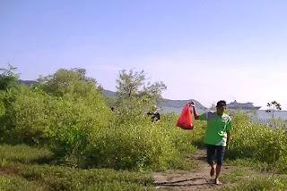 Bersih-bersih sampah plastik dari kawasan mangrove