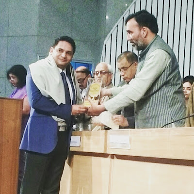 Dr Satendra Singh felicitated with Delhi State Awards Persons with disabilities 2016