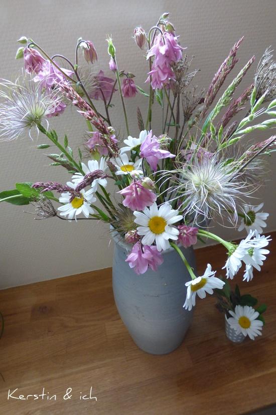 Blumenstrauß Sommerblumen Garten DIY Selbstgemacht