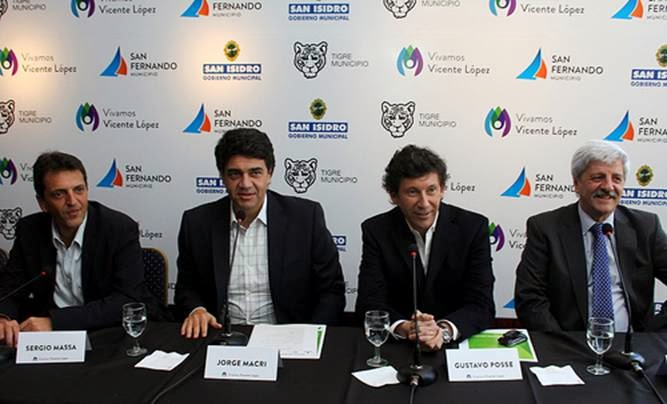 Sergio Massa, Jorge Macri, Gustavo Posse, Luis Andreotti
