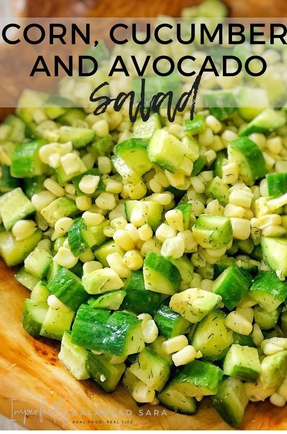 Corn, Cucumber, And Avocado Salad