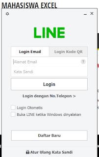 Bagaimana cara menggunakan LINE di PC ?