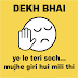 Dekh bhai Giri hui soch Dhansu insult status in Hindi