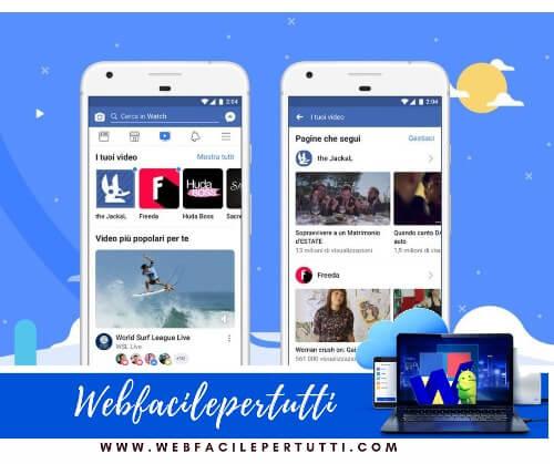 Facebook Watch - La televisione del social network è disponibile anche in Italia