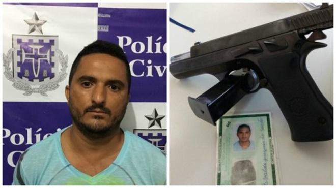Homem acusado de ataque a carro-forte e homicídio é preso em Souto Soares