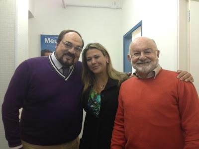 Rubends Ewald Filho, Tatiana Quintella e Silvio de Abreu - Divulgação