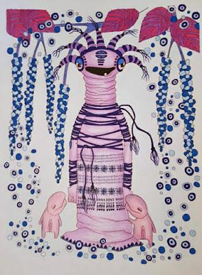 Zen doodling: alien