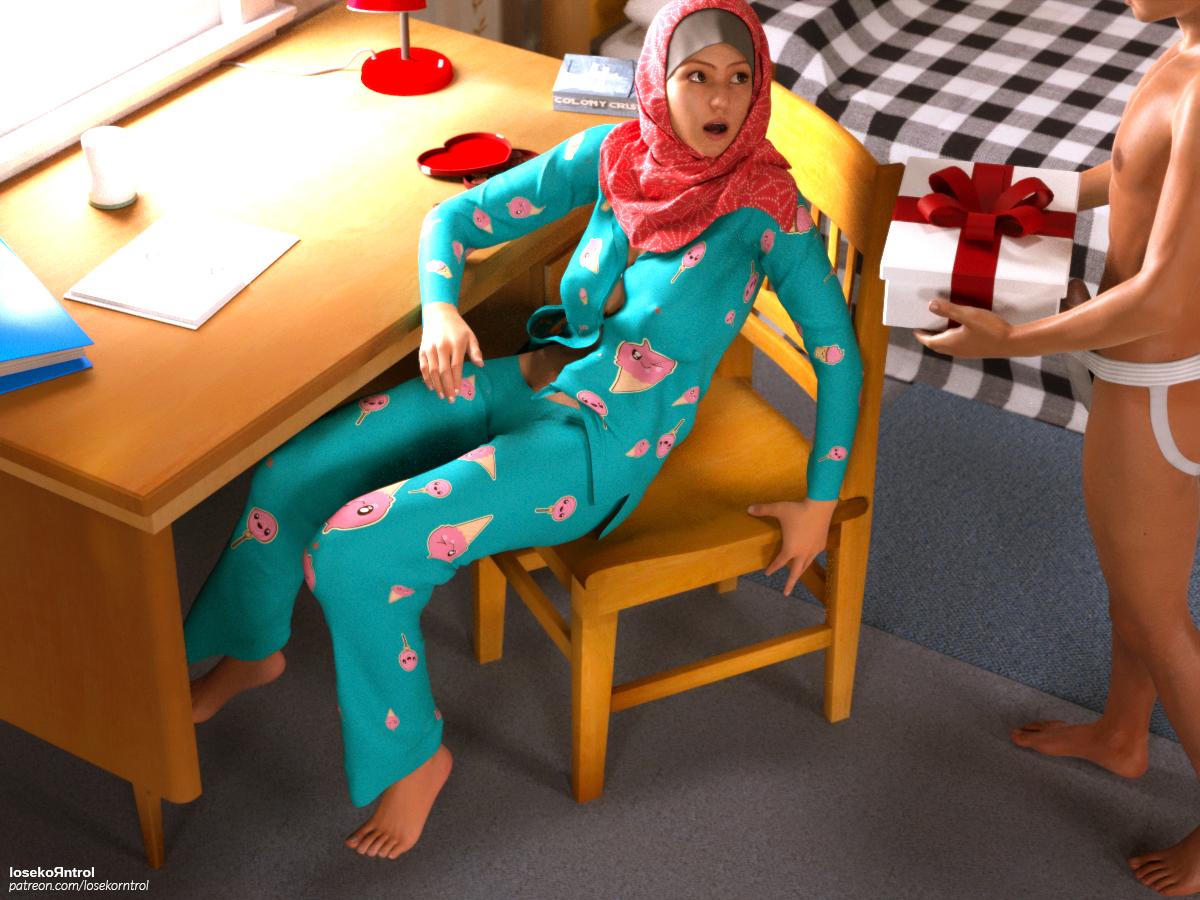 Kartun  Hentai Cewek Jilboobs  Valentine Jilbab Part 1 -5240
