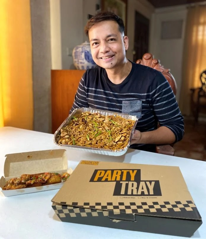 Yellow Cab Pasta Party Tray and Sloppy Wedges delivered at home