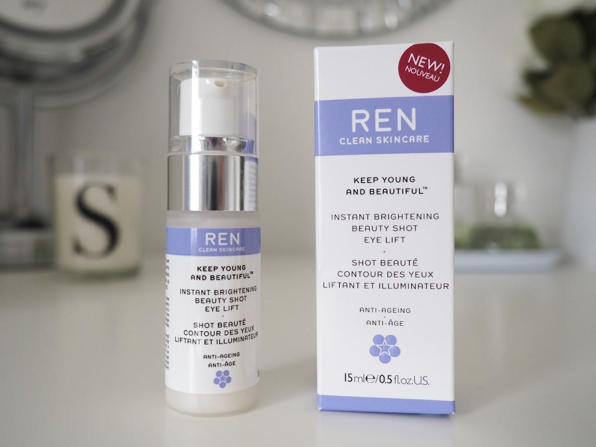 REN instant brightening beauty shot eye lift review skincare