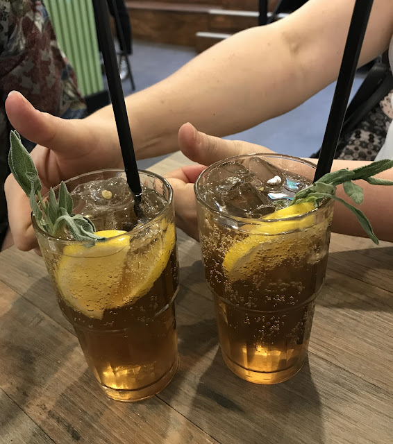 Miznon Melbourne, Melbourne, sage and lemon mocktail