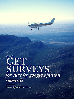 Get more surveys in google opinion rewards application