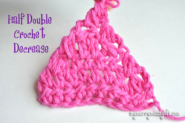 Example of a Half Double Crochet Decrease in Crochet