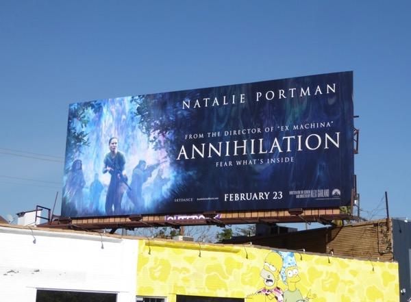 Natalie Portman Annihilation billboard