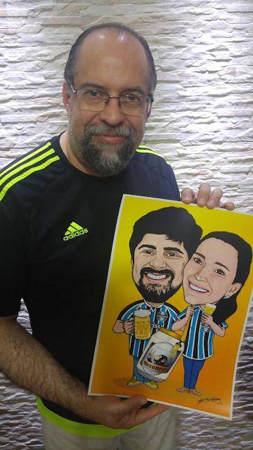O Desenhista Marcelo e a arte criada para o casal