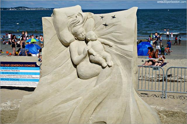 "Escultura de Arena ""An American Dream"" de Helena Bangert"