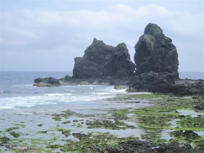 rocky beach, Green Island, Taiwan