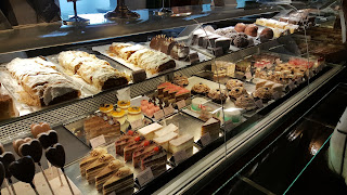 Patissere counter Inside the cafe Landtmann Vienna