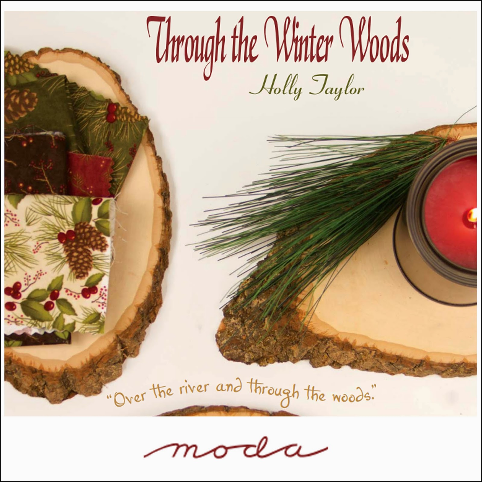 Moda THROUGH THE WINTER WOODS Quilt Christmas Holiday Fabric by Holly Taylor
