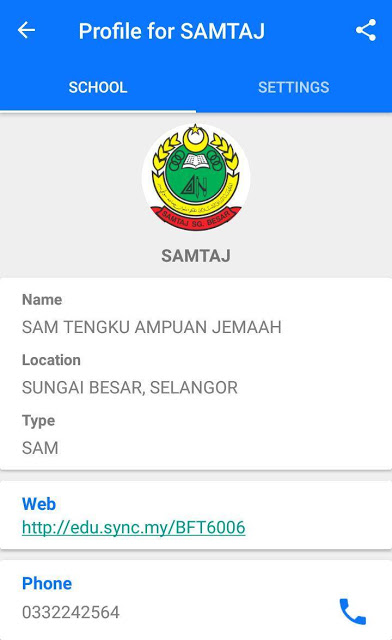 Sync School Messaging (SSM) SAMTAJ