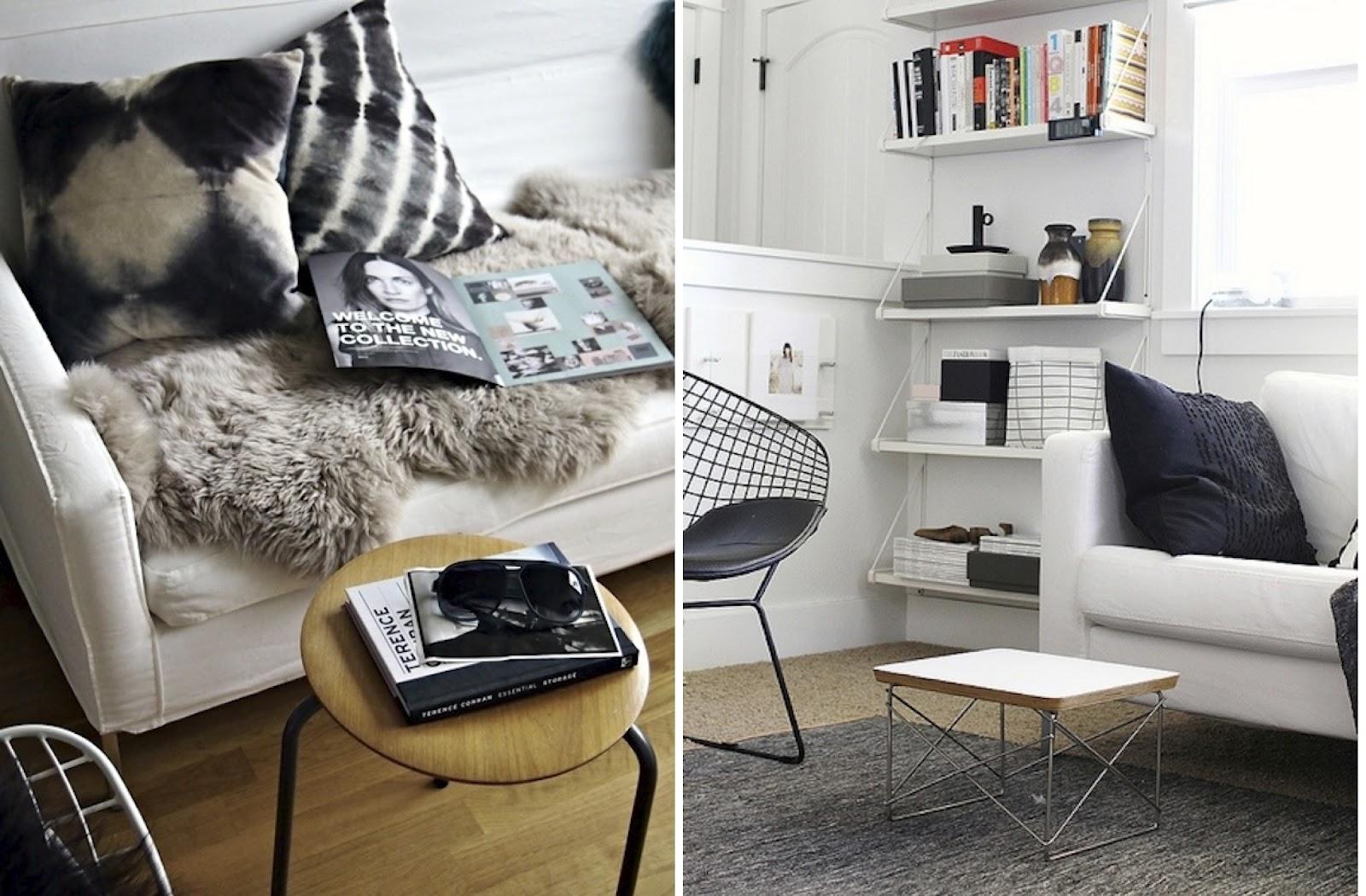 BLACK WHITE YELLOW More Living Room Inspiration