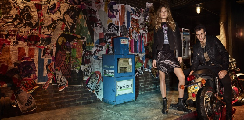 Anna Ewers goes rock chic for Colcci's Fall/Winter 2017 Campaign