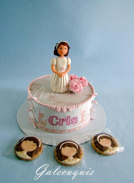 tarta primera comunión niña