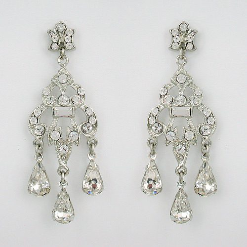 Two golden rings bridal chandelier earrings bridal earrings crystal bridal chandelier earrings the wedding dress is the most important of all the bride of course but the style in which the bride wears her hair and makeup aloadofball Images
