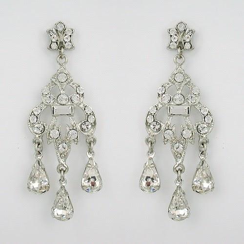 OK Wedding Gallery: Bridal Chandelier Earrings
