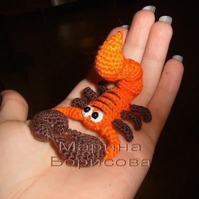 Вязаный крючком Скорпион
