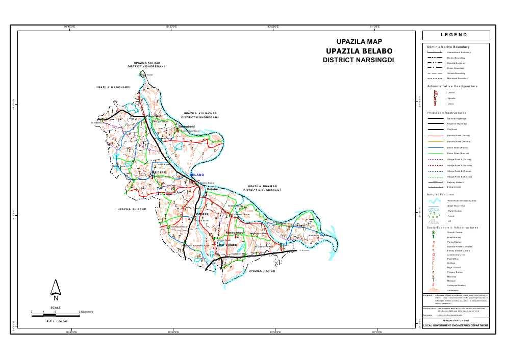 Belabo Upazila Map Narsingdi District Bangladesh
