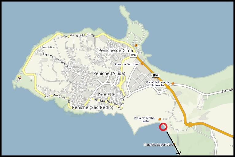 mapa cidade peniche Ufo Portugal   Network: Objecto não identificado a Sul de Peniche mapa cidade peniche
