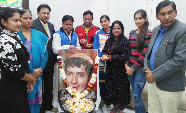 Faridabad artists pay tribute to famous actor Shashi Kapoor