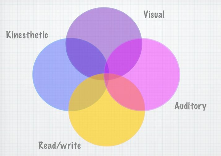 visual aural read/write and kinesthetic awareness